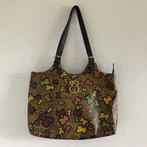 Authentic Tous Large Leather Tote Bag